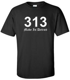 Argentina Made In Detroit 313 Camiseta Código de área Old English Motown Motor City Camiseta S-2Xl Camiseta Hombre Boy Digital Impresión directa personalizada Corto Suministro