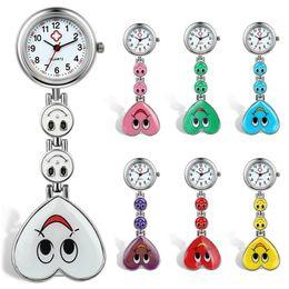 Wholesale Hanging Brooch - 2017 2018 Fashion Style Nurse Watch Heart Nurse Quartz Pocket Watch Pin Brooch Portable watch hanging fashion