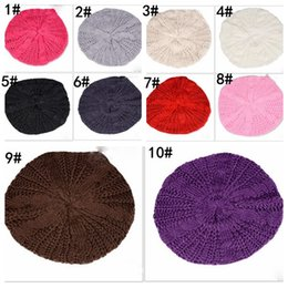 baggy braid hüte Rabatt 10 farben mode warme winter stricken häkeln baskenmütze geflochten baggy frauen dame beanie ski hut baumwolle nette strickmütze