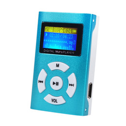 Wholesale Green Screen Support - 2016 New Arrival USB Mini MP3 Player Music Media Player with LCD Screen Support 32GB Micro SD TF Card USB 2.0 1.1 #OR43