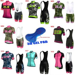 Wholesale Bib Shorts Cycling Jersey Woman - 2018 Ale Women Cycling Jersey Set Short Sleeves Bicycle Cycling Clothing Mtb Bib Shorts Bike Wear Shirts Maillot Ropa Ciclismo L2701