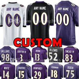 Wholesale browning custom - Custom Baltimore Jersey Raven 15 Michael Crabtree Robert Griffin III 52 Lewis 98 Williams 83 NEAD IV 29 Humphrey 14 White 13 Brown Perriman