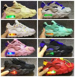 buy popular bdde6 47616 diseñadores zapatos de bebé Rebajas huarache Air Huarache infantil Running  Diseñador Zapatos niños deportes Blanco Niños