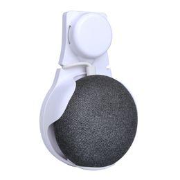 Küchenwand stand online-Steckdose Wandhalterung Standhalterung für Google Home Mini Voice Assistants kompakte Halterung Fall Plug Küche Badezimmer Schlafzimmer Halter Weiß Schwarz