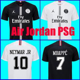 27d23ba1a1e Top Tailândia qualidade AIR JORDAN PSG 3RD 18 19 camisas de futebol 2019  Paris saint germain camisa NEYMAR JR MBAPPE jersey Survetement futebol kit  camisa ...