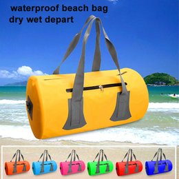 5e559dd4099d Waterproof beach Bag travel Dry Bag with Strap Storage Outdoor Travel  Swimming Rafting Portable dry wet seperate