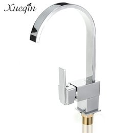 Wholesale Mixing Faucet - Xueqin Chrome Brass Swivel Kitchen Water Faucet Tap Spout Single Handle Bathroom Basin Mixer Tap Mixing Faucets