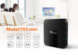 Melhores tvs hd on-line-Best-seller TX3 mini-Android 7.1 TV BOX Amlogic S905W Quad Core 2GB / 16GB built-in 2.4GWIFI set top box inteligente cs