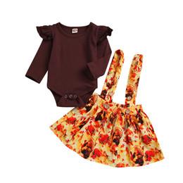 MUQGEW bébé filles garçons vêtements hiver nouveau-né bébé fille barboteuse Tops + Tutu jupes Turquie Thanksgiving Outfit Set ? partir de fabricateur