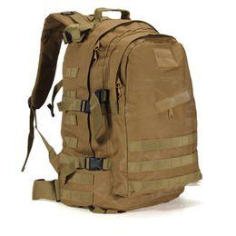 Équipement de camouflage en Ligne-55L 3D Outdoor Sport Army Gear Tactical climbing mountaineering Backpack Camping Hiking Trekking Rucksack Travel outdoor Bag