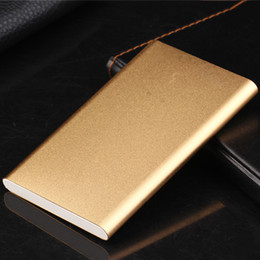 Wholesale Thin Cell Phones For Sale - Super Thin 10400MAH External Power Bank Mobile Phone Battery Power Charger for cell phones factory directly sale gold ZA383401