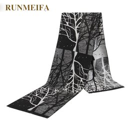Wholesale Gray Plaid Scarf - Wholesale- [RUNMEIFA] 2017 autumn and winter The new men's scarf a black gray plaid scarf is a black grey plaid scarf