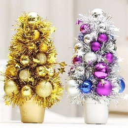 Wholesale Christmas Decorations For Windows - New 27*15cm five star mini christmas tree christmas decoration for supermarket mall window display 120g pcs