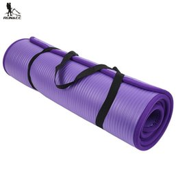 Wholesale Yoga Mat Mm - RUNACC Anti-Tear Exercise Yoga Mat High-Density FitnessYoga Mat Workout Free Storage Bag Exercise Yoga Pilates