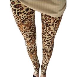 Estilo punk legging online-Polainas de leopardo de verano imprimir moda pantalones flacos para mujer Leggins 2018 Legging elastica Feminina estilo de punk rock entrenamiento venta