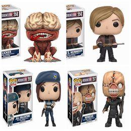 Resident Evil Funko POP Game Marvel аниме Джилл Валентайн Немезида фигурку Licker Леон Кеннеди анимационный фильм 10 см рисунок модели коробки cheap abs movies от Поставщики abs movies