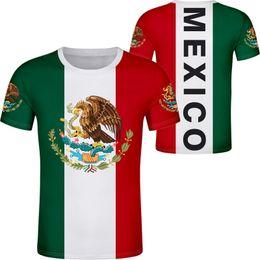 2019 camisetas impressas THE UNITED STATES OF MEXICO camiseta logo nome personalizado número mex camiseta nação bandeira mx espanhola impressão mexicano roupas foto camisetas impressas barato