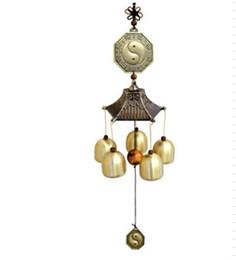 Suerte feng shui online-Chines Feng Shui metal campanas de viento con campanas de cobre para la buena suerte fortuna jardín Home Wall Hanging Decoration Arts Crafts regalos de cumpleaños