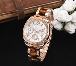 Wholesale Michael Diamonds - New 2018 Fashion Watches michael Quartz Watch Casual woman All over the sky stars Crystal Diamond Rome Word Dial Style Watches