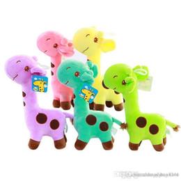Vente en gros - Girafe de dessin animé de mode cher doux jouet en peluche poupées animaux bébé enfants anniversaire ? partir de fabricateur