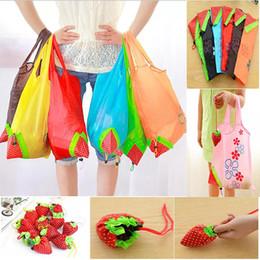 2019 weiße farbe handtaschen Nette Erdbeereinkaufstaschen faltbare Tote Wiederverwendbare Speicher-Lebensmittelgeschäft-Taschen-Einkaufstasche Eco wiederverwendbare umweltfreundliche Einkaufstaschen