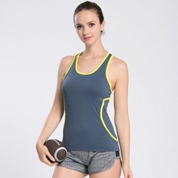 c66e0b889f Women sleeveless yoga Shirt build in bra Yoga Top Women s Sports Shirt  Female Fitness Gym Clothing Women sports Tank