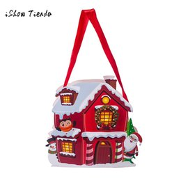 Wholesale Merry Christmas Baking - Wholesale-Merry Christmas Candy Bag Snack Packet Children Household Kid Home Decor navidad Snack Baking Cake Biscuits Cookies Packaging