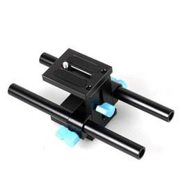Rig rail rail online-Commercio all'ingrosso di alta qualità 15mm rail rod sistema di supporto piastra base per canon dslr seguire focus rig 5d2 5d 5d3 7d