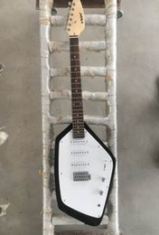 Wholesale guitar single coil - Rare VOX Mark V Teardrop Phantom Black Solid Body Electric Guitar 3 Single Coil Pickups, Tremolo Tailpiece, Vintage White Kluson tuners
