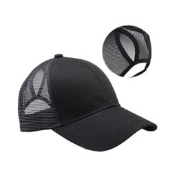 casquettes de baseball Promotion New Ponytail Baseball Cap Femmes Messy Bun Baseball Hat Snapback Net Casquette de baseball