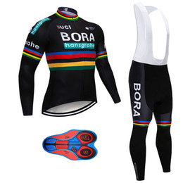 2018 Pro team bora hansgrohe Winter Thermal Fleece Cycling jersey kit Ropa  Ciclismo Invierno bicycle clothing MTB bike jersey bib pants kit 825e75163