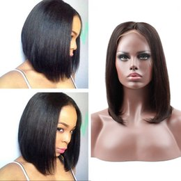 brown remy straight hair Canada - HC Hair 150% Density 360 Lace Frontal Wig Pre Plucked With Baby Hair Straight Brazilian Remy Human Hair Wigs For Black Women
