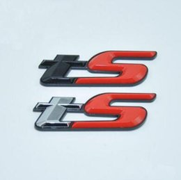 2019 nissan center caps ABS plástico 3D TS Emblem Badge Sticker Excelente calcomanía brillante lisa para Subaru Forester BRZ WRX STI Car Styling Accessories CCA9603 30pcs