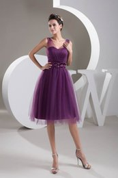 Wholesale lilac bridesmaid dress straps ruffle - Little Purple Short Homecoming Dresses A Line Backless Spaghetti Straps Ruffles Short Bridesmaids Gowns Cheap WD4-839