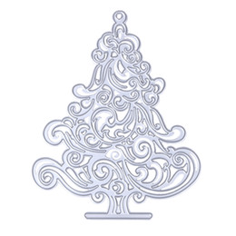 Wholesale Dies For Scrapbooking - Christmas Tree Metal Die cutting Dies For DIY Scrapbooking Photo Album Decorative Embossing Folder Stencil 12.5 x 10.2cm