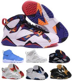 Wholesale French Army - Cheap 7 Basketball Shoes Mens Women 7s VII Black Bordeaux Olympic Hare UNC Tinker Nights French Blue Raptor Nothing N7 Replicas Shoe Sneaker