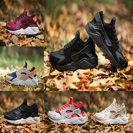 Wholesale Camouflage Canvas Shoes - With box Air Huarache 1 Sneaker Running shoes Huraches Breathable Camouflage Trainers For Men And Women Outdoors Shoes Huaraches Size 36-45