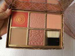 "Wholesale cheek brushes - 2018Newset Cheek athon Blush Kit Palette Cosmetics D 5color with Brush ""kick up your cheeks"" blush kit"