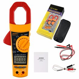 Wholesale Digital Ac Clamp Multimeter - AUTOOL DM600 same vs vc902 Auto Manual Digital AC DC Clamp Meter Volt Freq Cap Resistance Tester Multimeter