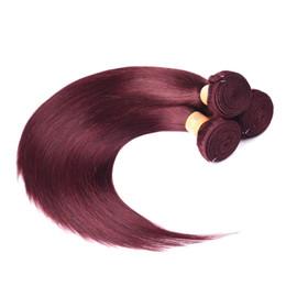 2019 virgin indian straight hair jet black Cheveux brésiliens colorés 3 faisceaux droits Noir de jais 1 # / 2 # / 4 # / 27 # / 99J cheveux indiens brésiliens indiens cambodgiens vierges tissent des cheveux humains virgin indian straight hair jet black pas cher