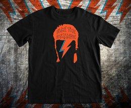 2019 rosto design t shirt Como David Bowie Aladdin Sane Novo t-shirt Ziggy Stardust ENFRENTAR O ESTRANHO T-Shirt Design Básico Top Imprimir T-Shirt Dos Homens Curto Camisa
