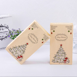 Wholesale Christmas Presents Ornaments - 8x Set Paper Xmas Party Holiday Cookies Present Gift Bag Luxury Wedding Bags