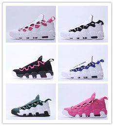 Wholesale womens discount basketball shoes - Discount cheap Mens Womens Basketball Shoes Sneaker Room More Money QS Outdoor Sports Sneakers Size size 36-45