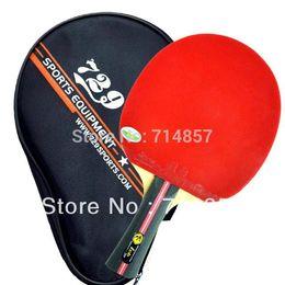 Tênis de mesa original on-line-Atacado-Original RITC 729 1-estrela (1star, 1 estrela) pips-in tênis de mesa / raquete de pingue-pongue + um caso de morcego Shakehand punho longo FL