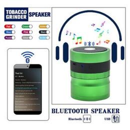 2019 accessori altoparlanti Bluetooth Grinders 62mm Metallo Herb Grinder per Tabacco Grinder Speaker 2 in 1 Smoking Frinders Smoking Accessori CCA10376 10 pz sconti accessori altoparlanti