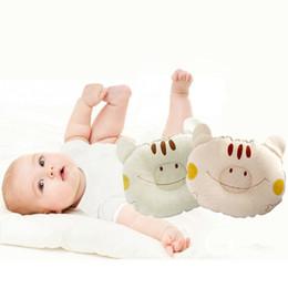 cartone animato a dormire Sconti Bear Cotton Cartoon Head Positioner Neonato Sleeping Shaping Pillow Neonato Poggiatesta Supporto per la testa