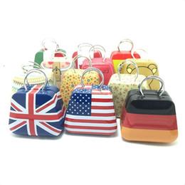 2019 zinn handtaschen Niedlichen Mini Kleine Dose Münzbox Handtasche Fall Schmuck Aufbewahrungsboxen Für Ohrringe Halskette Handtasche Tasche Pralinenschachtel Britische Flaggen rabatt zinn handtaschen