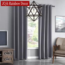 Cortinas de acabado online-Jrd Modern Blackout Curtains For Living Room Cortinas de ventana para el dormitorio Telas para cortinas Confeccionadas Acabados Cortinas Persianas Tendencia