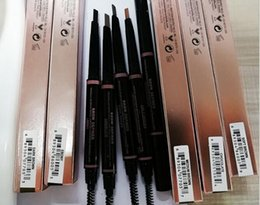 Wholesale Soft Eyebrow Pencil - MAKEUP Double eyebrow pencil BROW PENCIL CRAYON EBONY SOFT BROWN DARK BROWN   MEDIUM BROWN chocolate DHL Free shipping