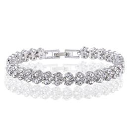 Silbernes foto armband online-Nagelneue Frauen Herz Tennis Armband echtes Foto Luxus Kristall Armband Mode Weißgold Diamant Armbänder Snap Schmuck